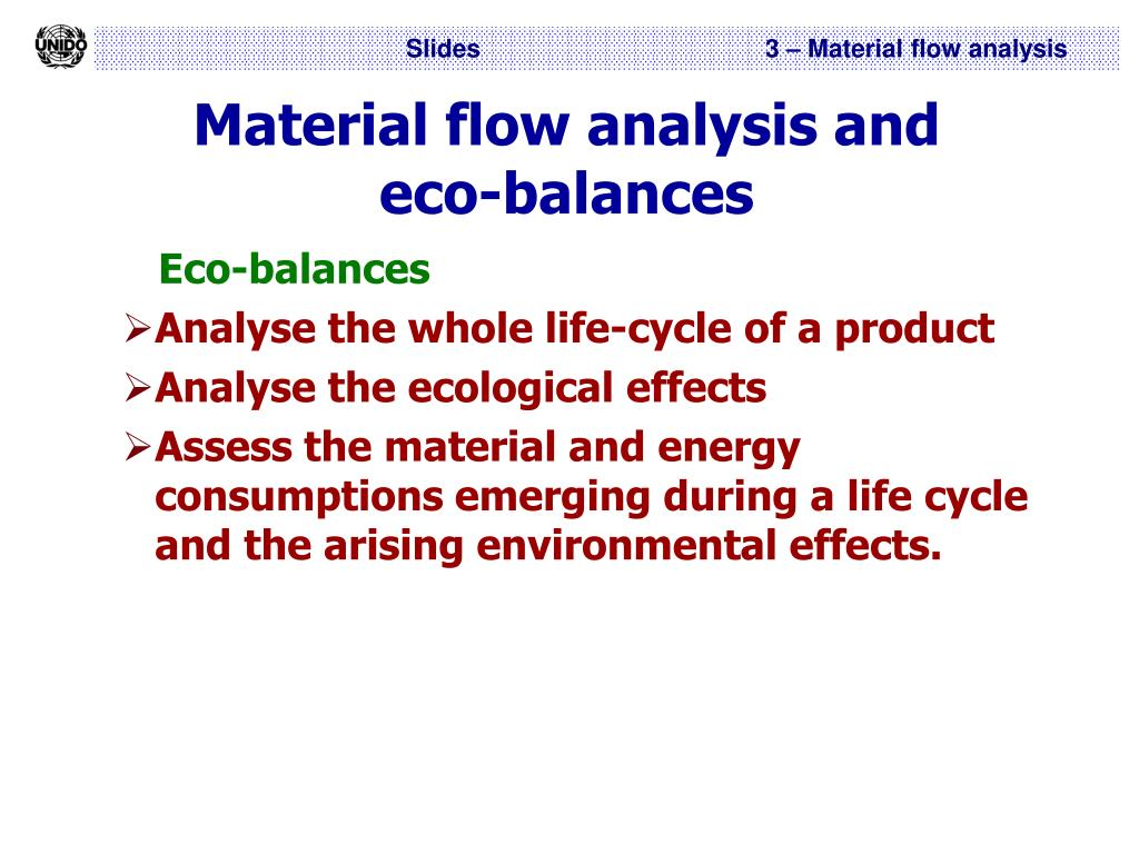 Material flow analysis and