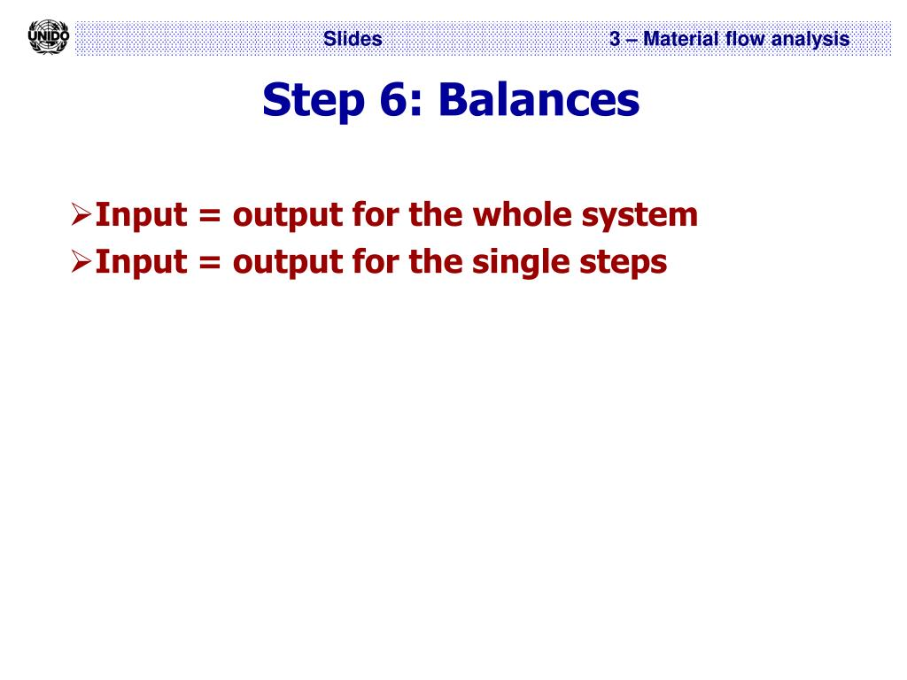 Step 6: Balances