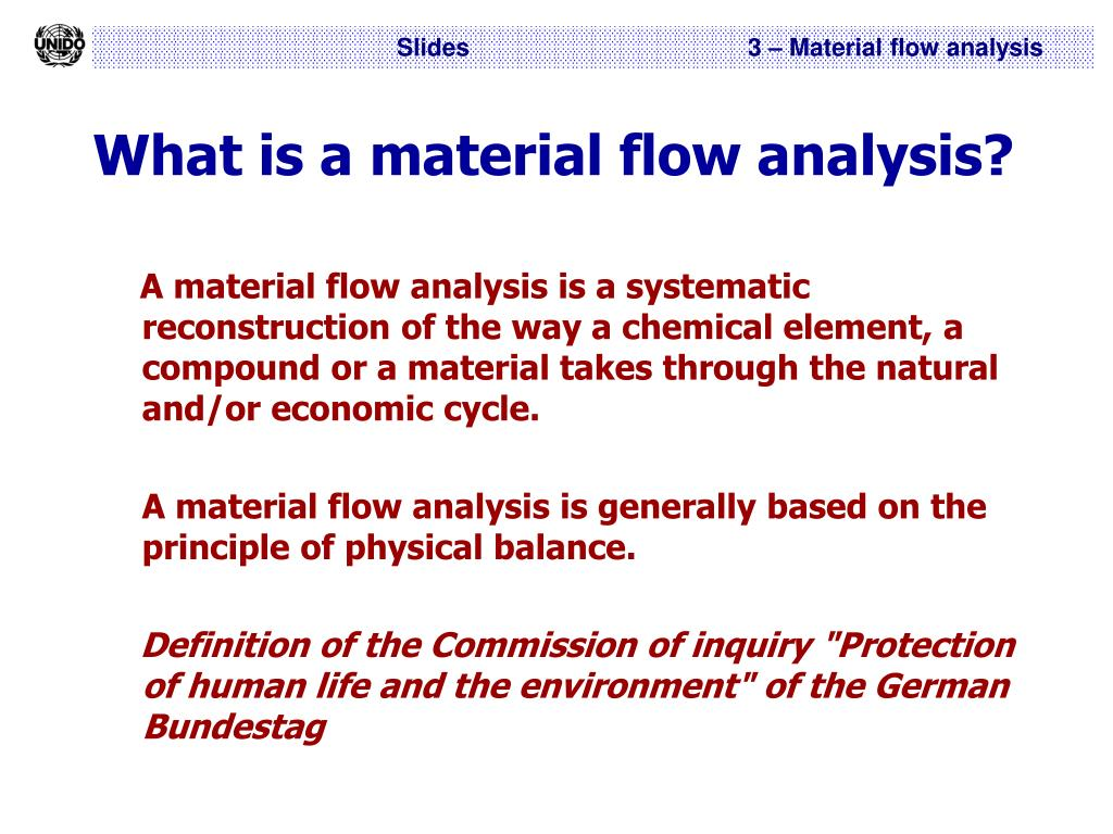 What is a material flow analysis?
