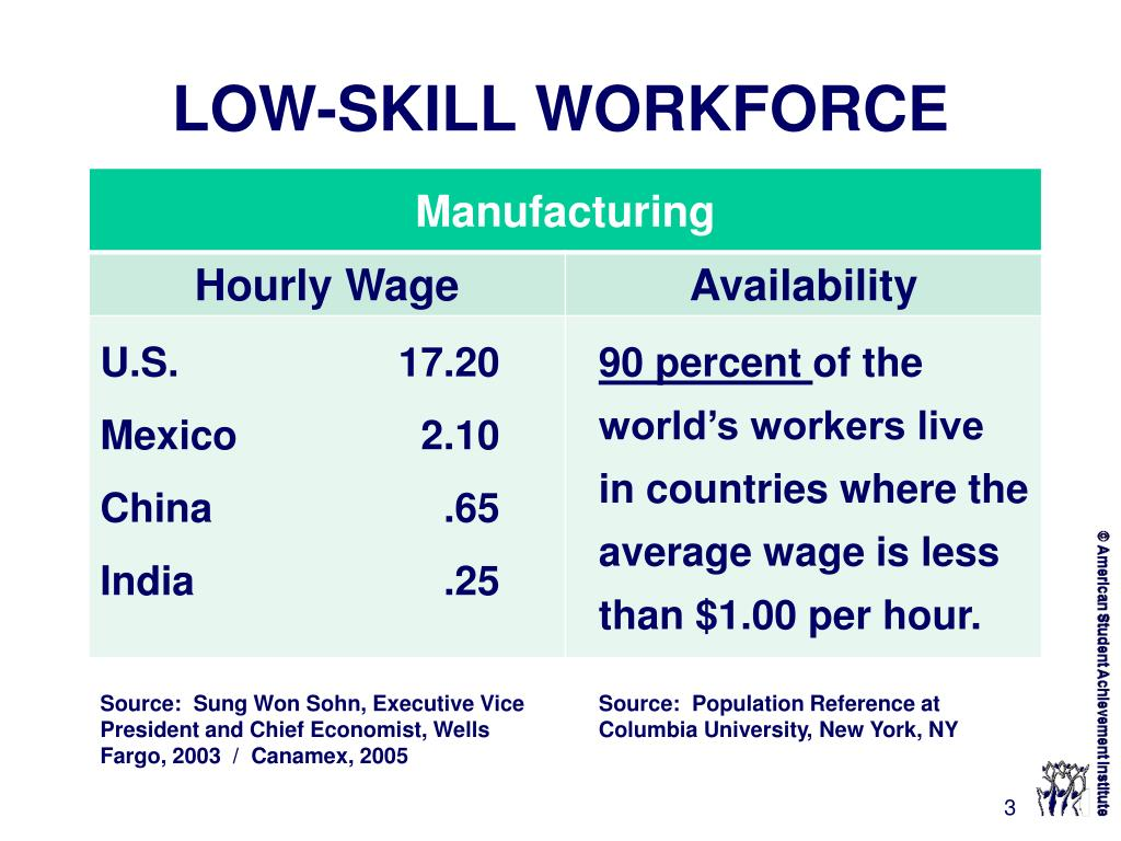 LOW-SKILL WORKFORCE