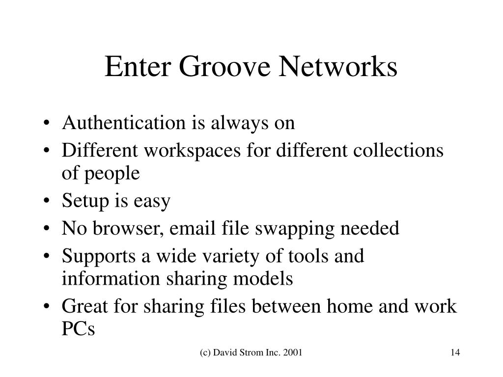 Enter Groove Networks