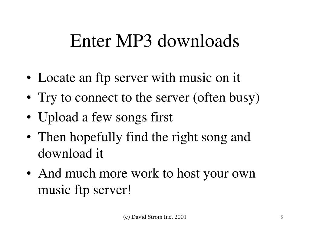 Enter MP3 downloads