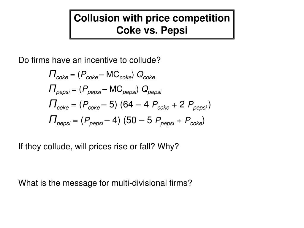 Collusion with price competition