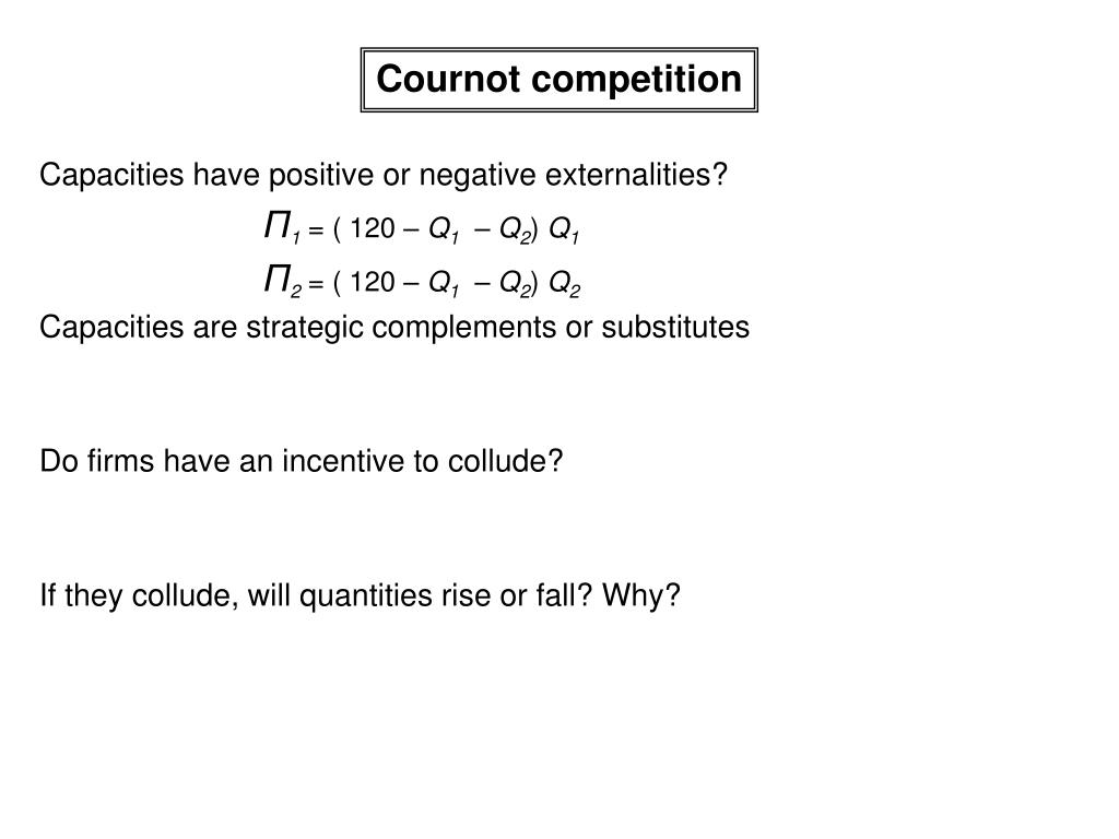 Cournot competition