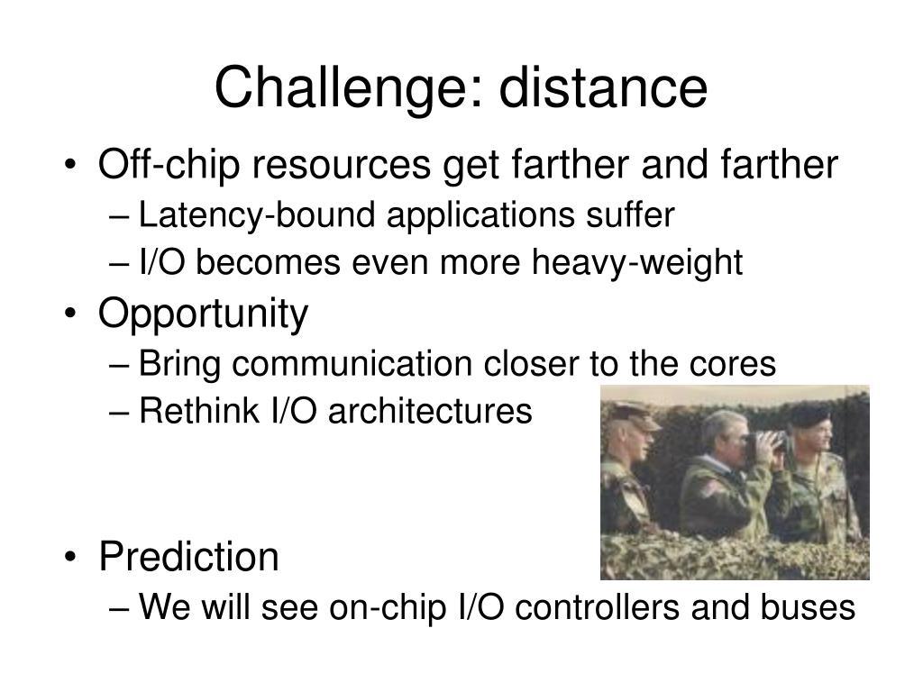 Challenge: distance