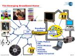 the emerging broadband home