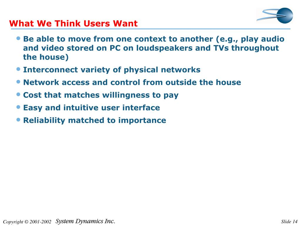 What We Think Users Want