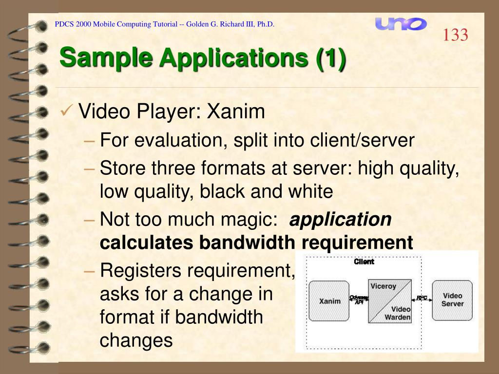 PDCS 2000 Mobile Computing Tutorial -- Golden G. Richard III, Ph.D.