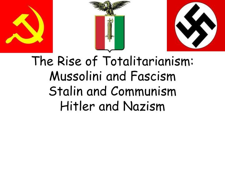 essay on communism and fascism