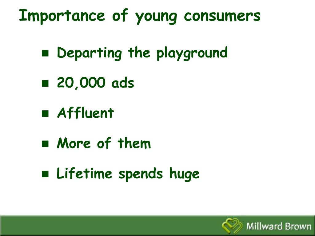 Importance of young consumers