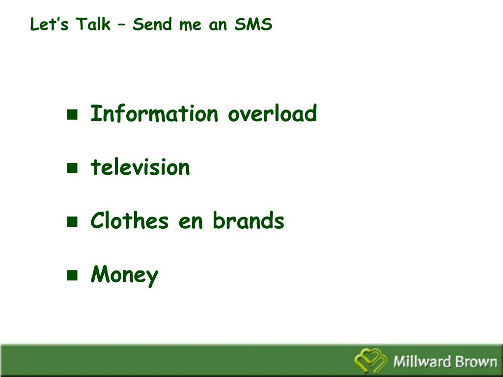 Let's Talk – Send me an SMS