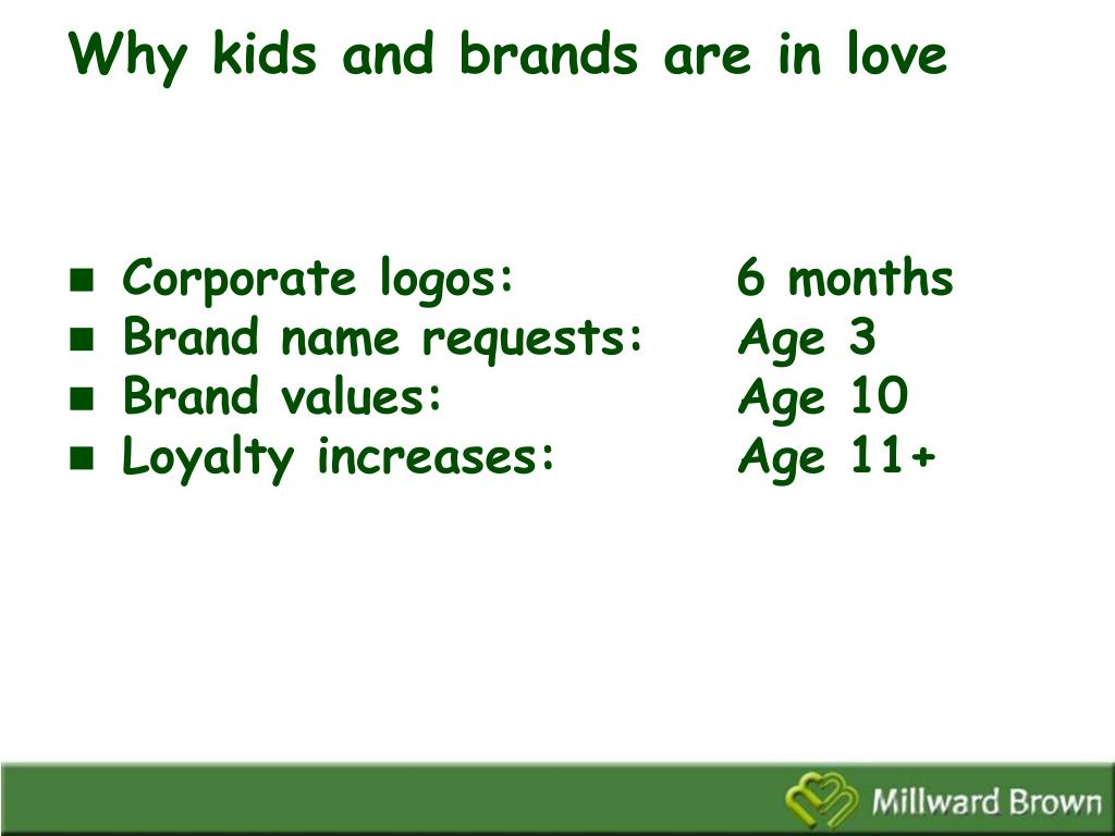 Why kids and brands are in love