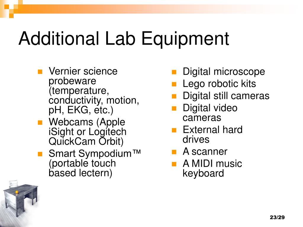 Additional Lab Equipment