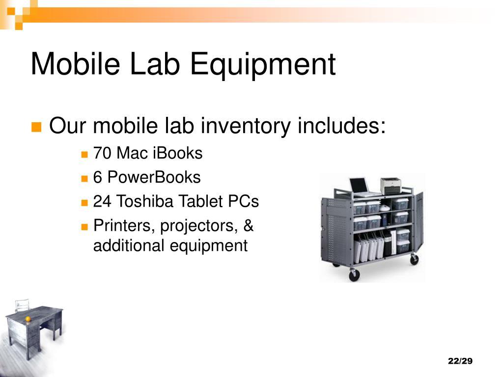 Mobile Lab Equipment