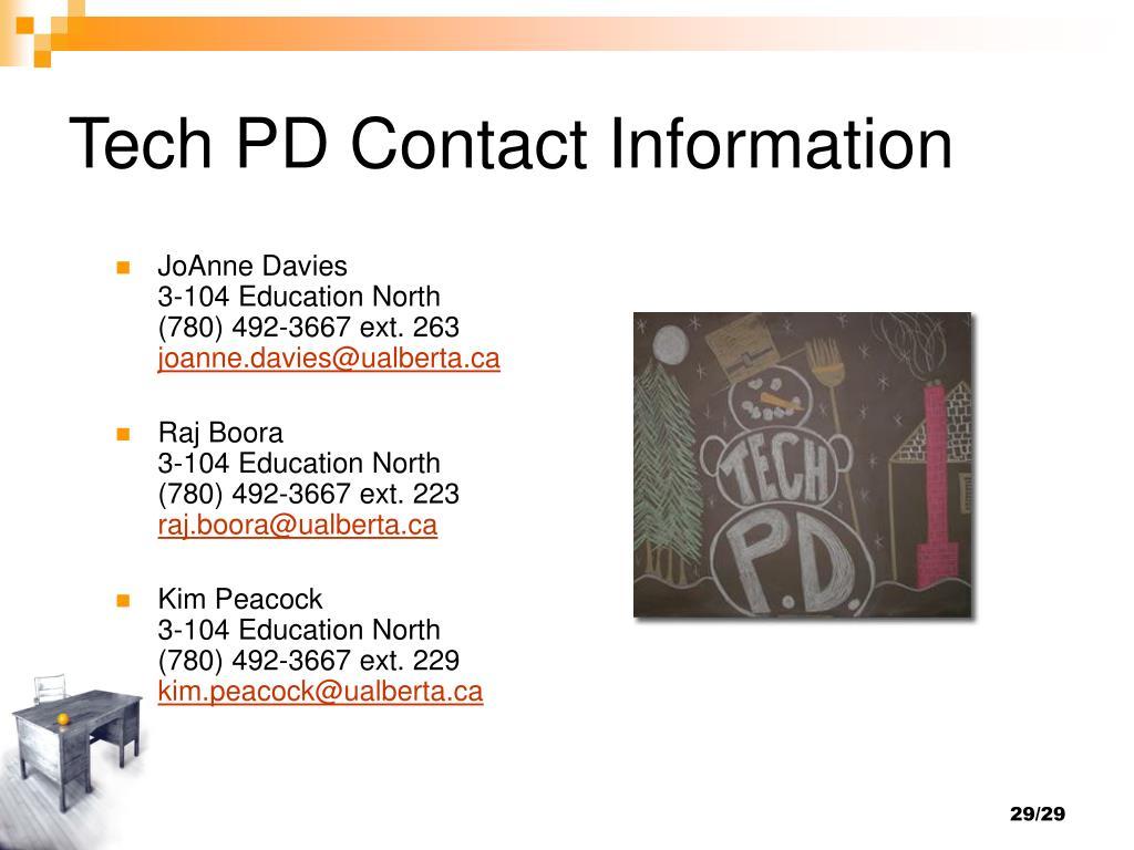 Tech PD Contact Information
