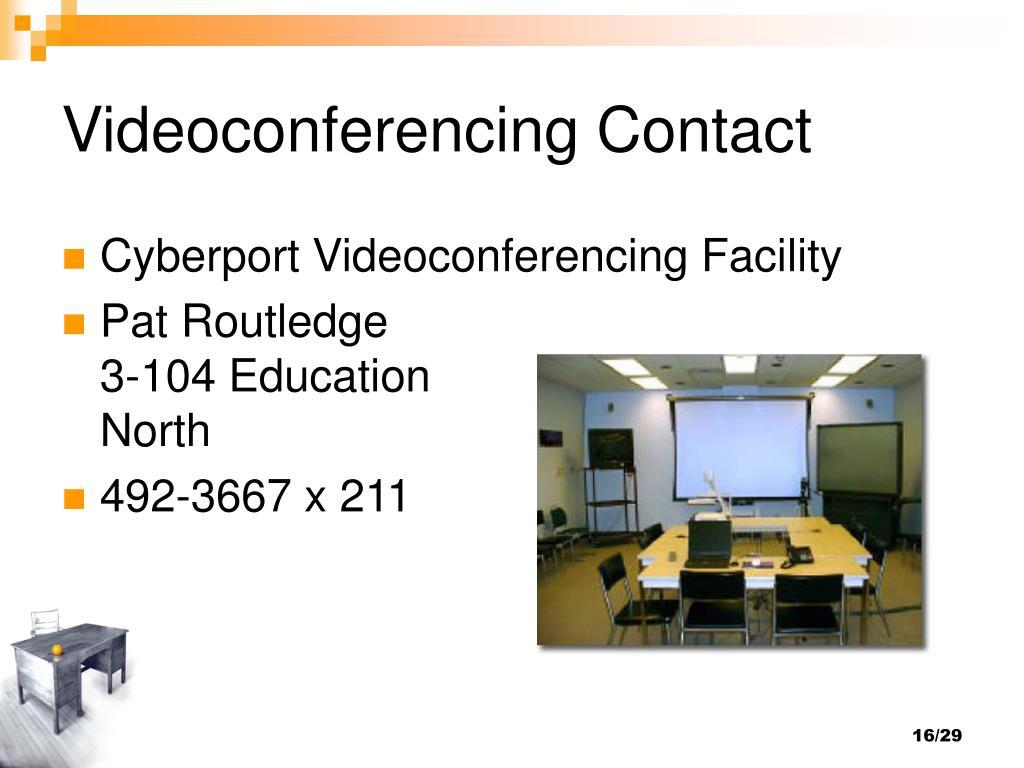Videoconferencing Contact