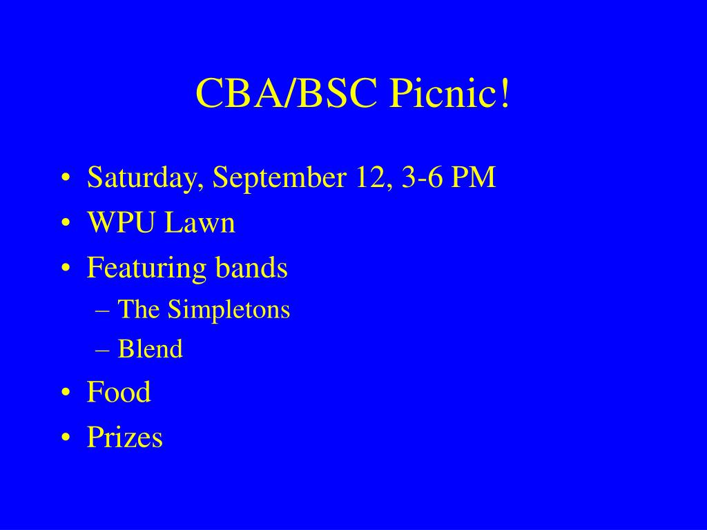 CBA/BSC Picnic!