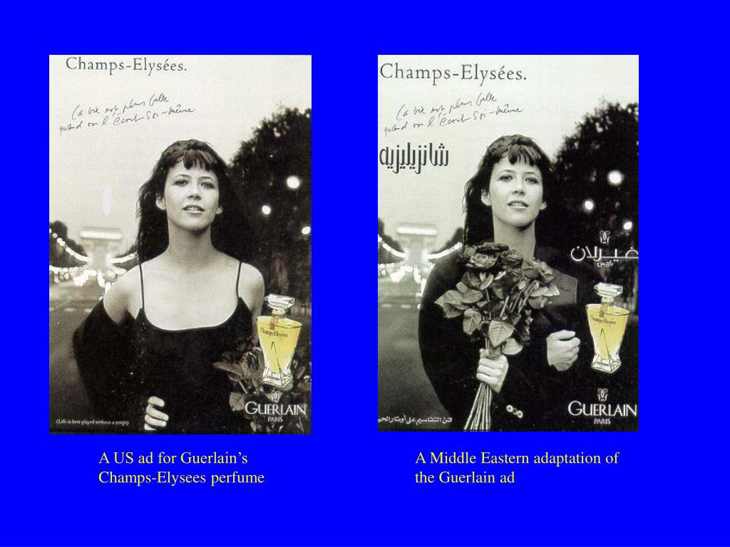 A US ad for Guerlain's Champs-Elysees perfume