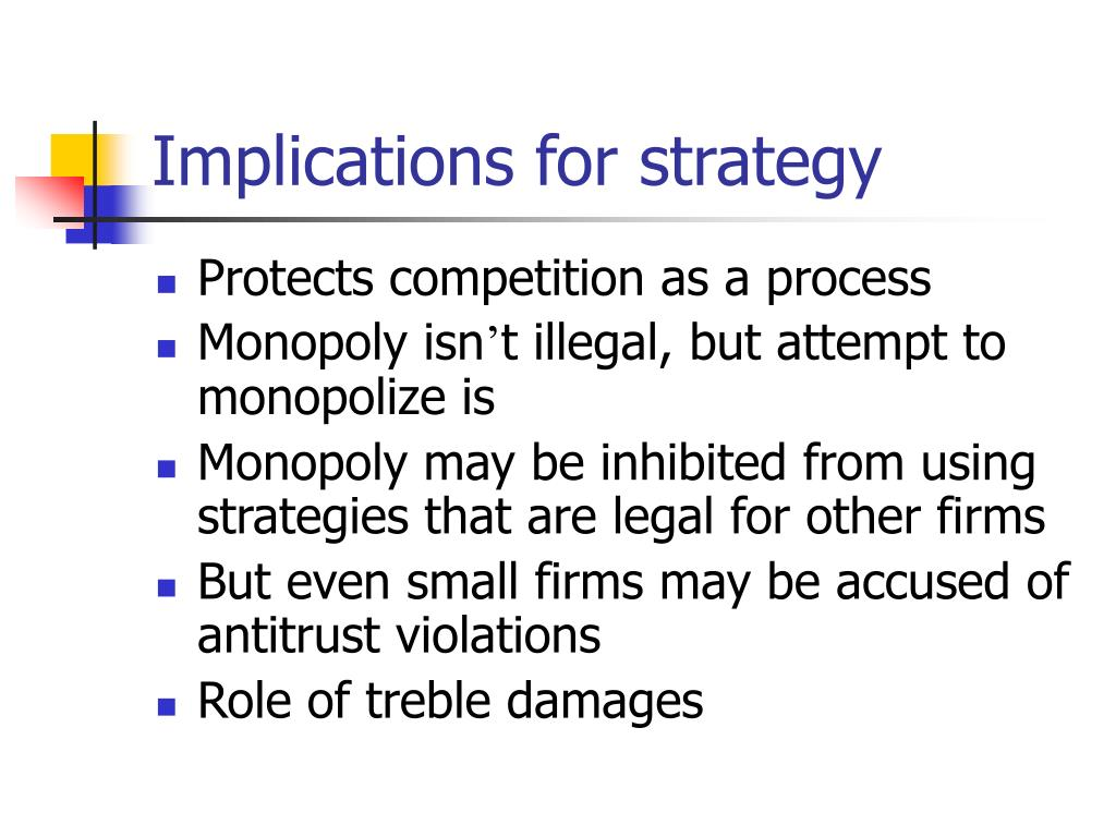 Implications for strategy