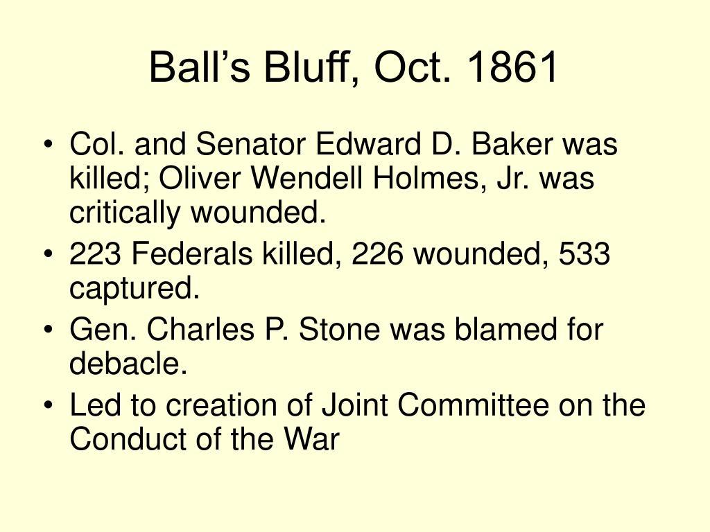 Ball's Bluff, Oct. 1861