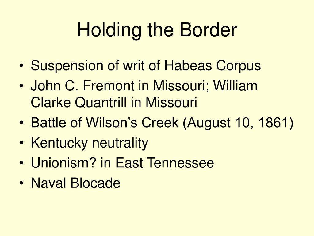 Holding the Border