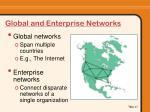 global and enterprise networks