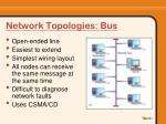 network topologies bus