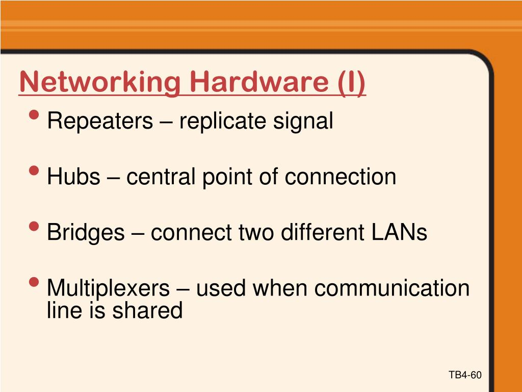 Networking Hardware (I)