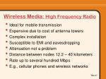 wireless media high frequency radio