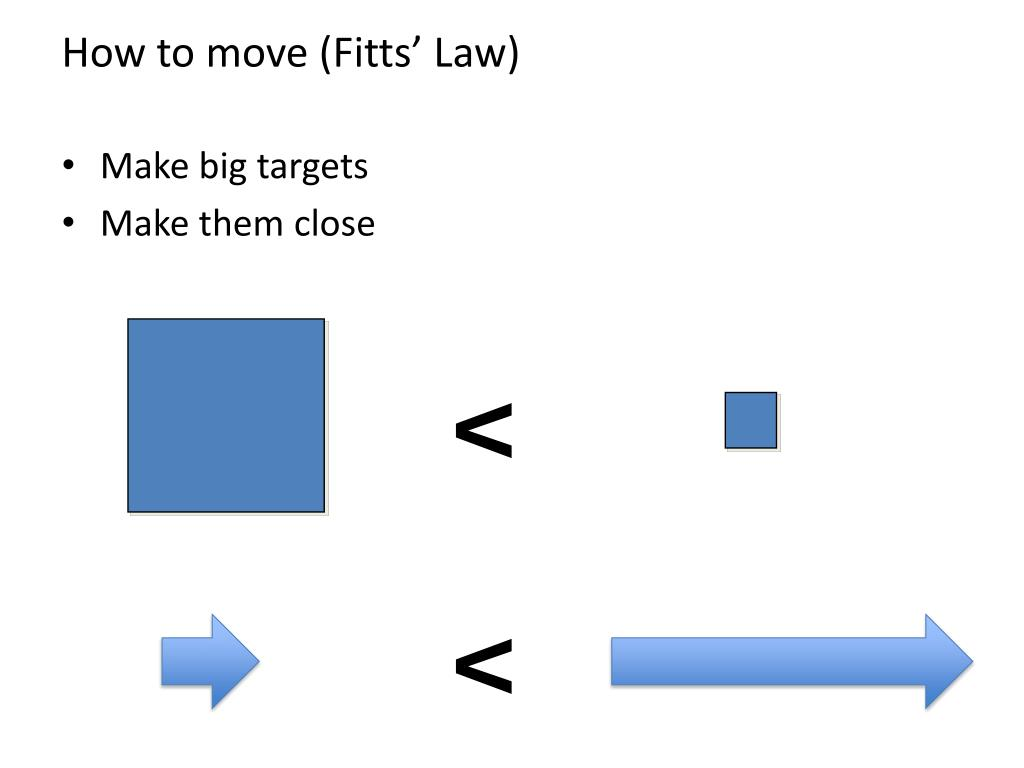 How to move (Fitts' Law)