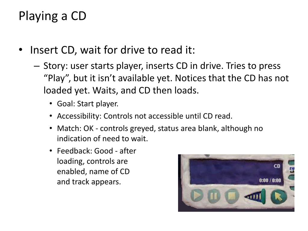 Playing a CD