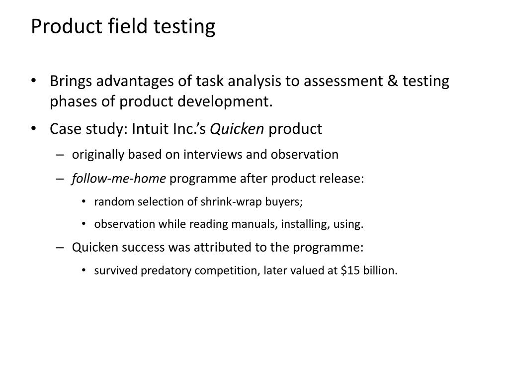 Product field testing