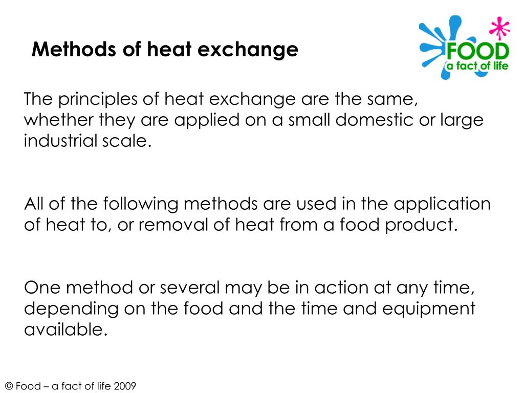 Methods of heat exchange