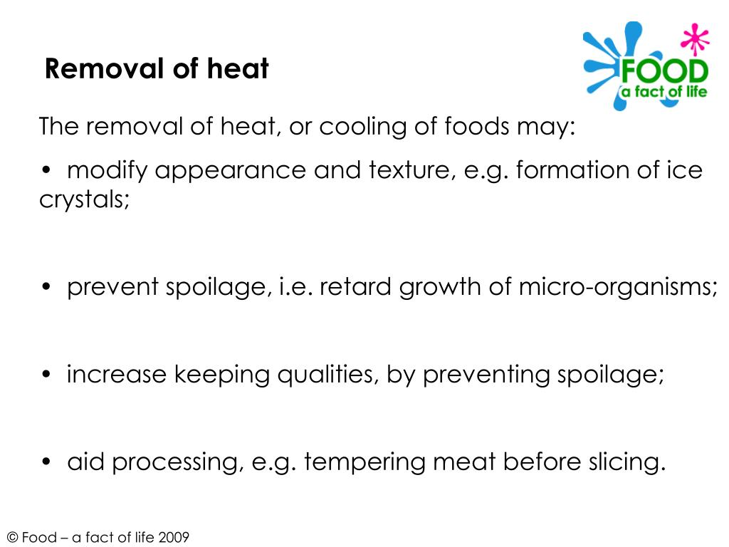 Removal of heat