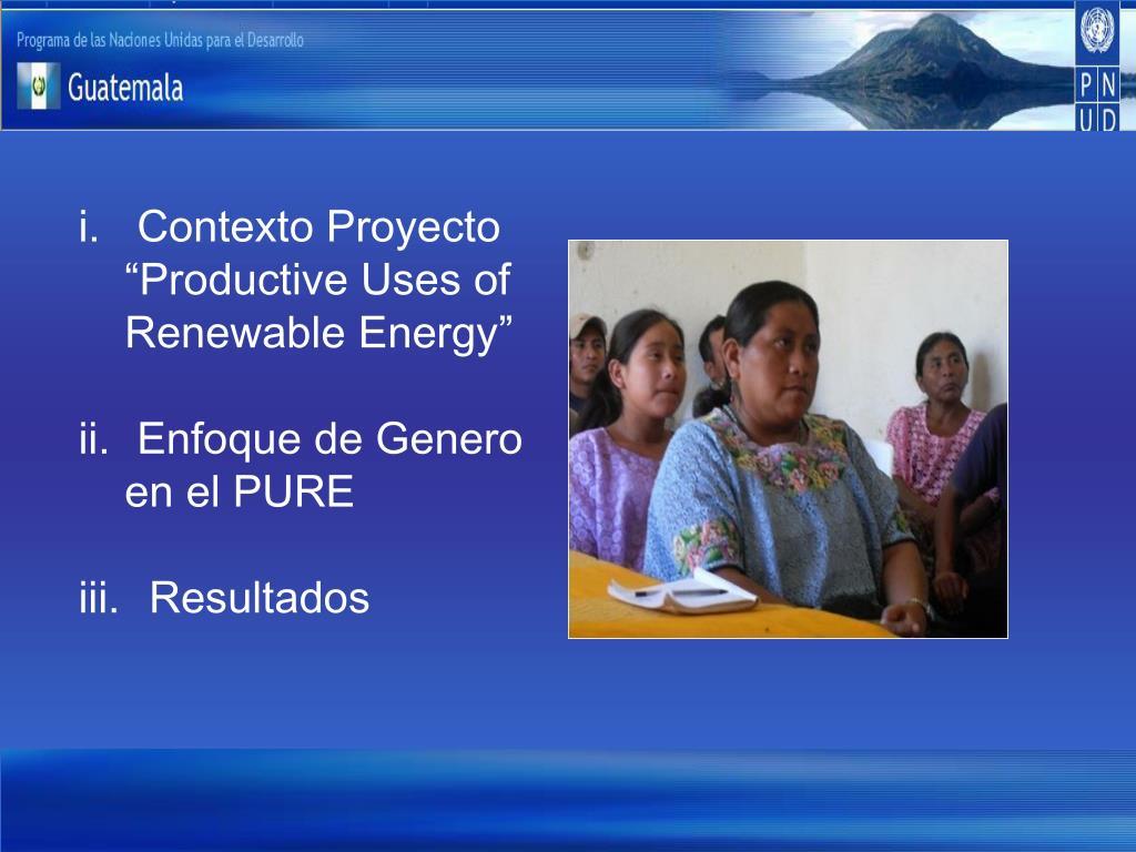 Contexto Proyecto
