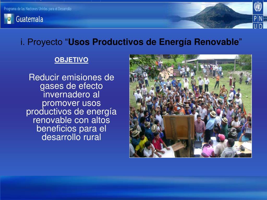 """i. Proyecto """""""