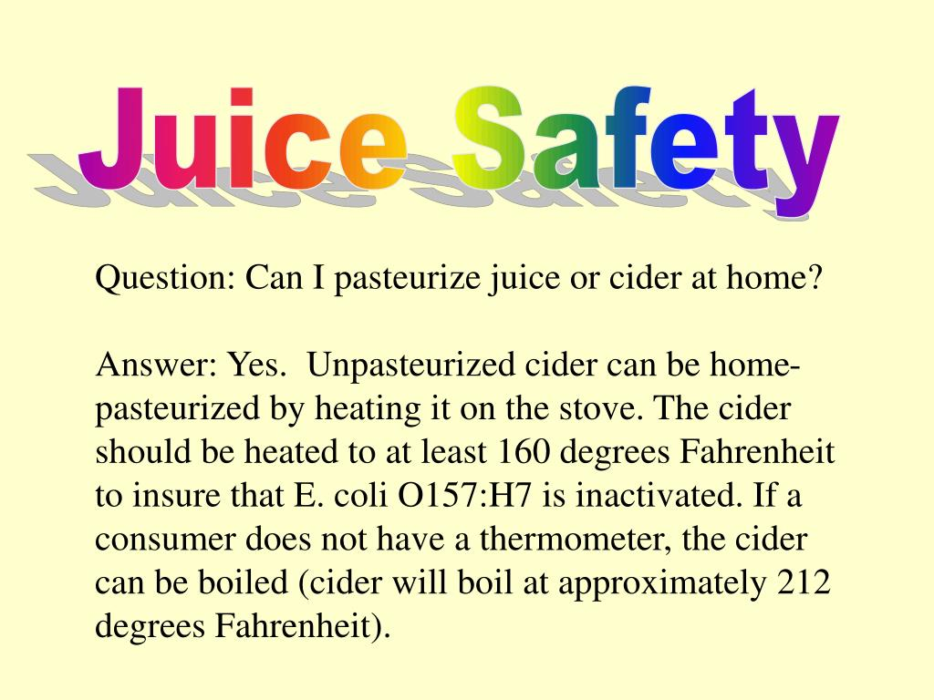 Juice Safety