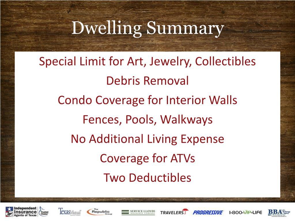 Dwelling Summary