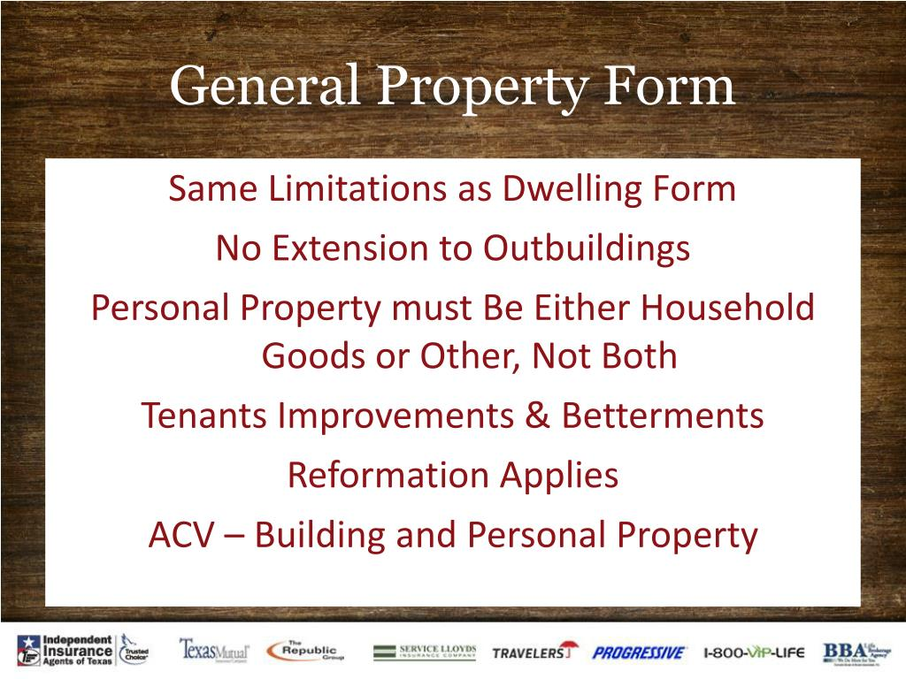 General Property Form