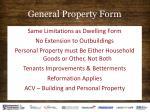 general property form