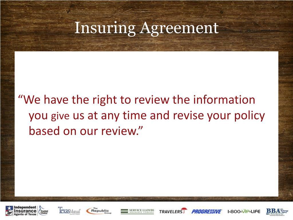 Insuring Agreement