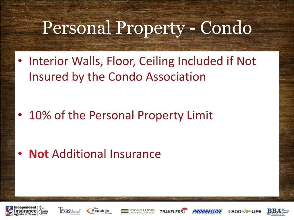 Personal Property - Condo