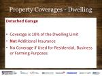 property coverages dwelling