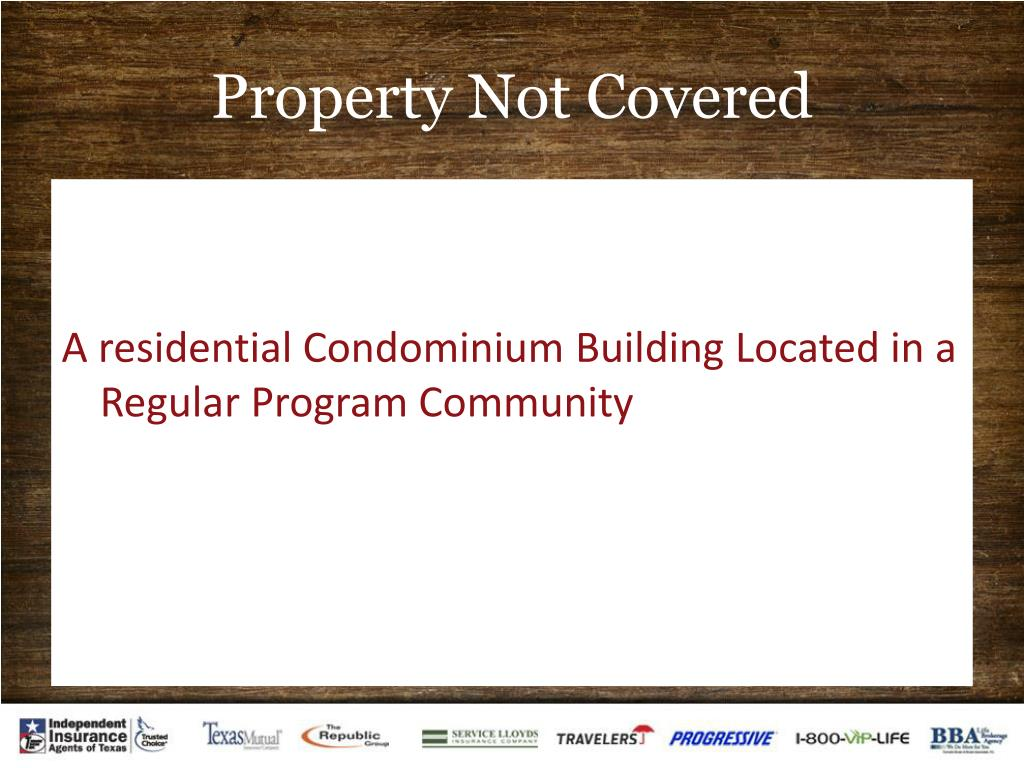 Property Not Covered