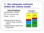 1 get adequate nutrients within the calorie needs
