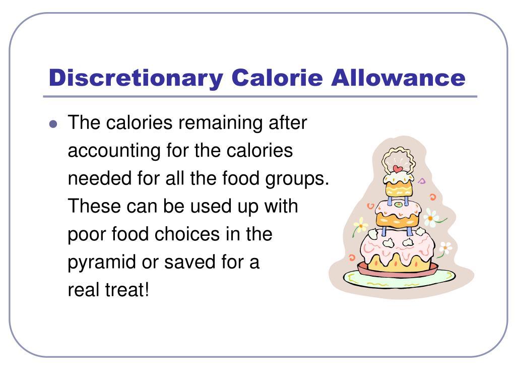 Discretionary Calorie Allowance