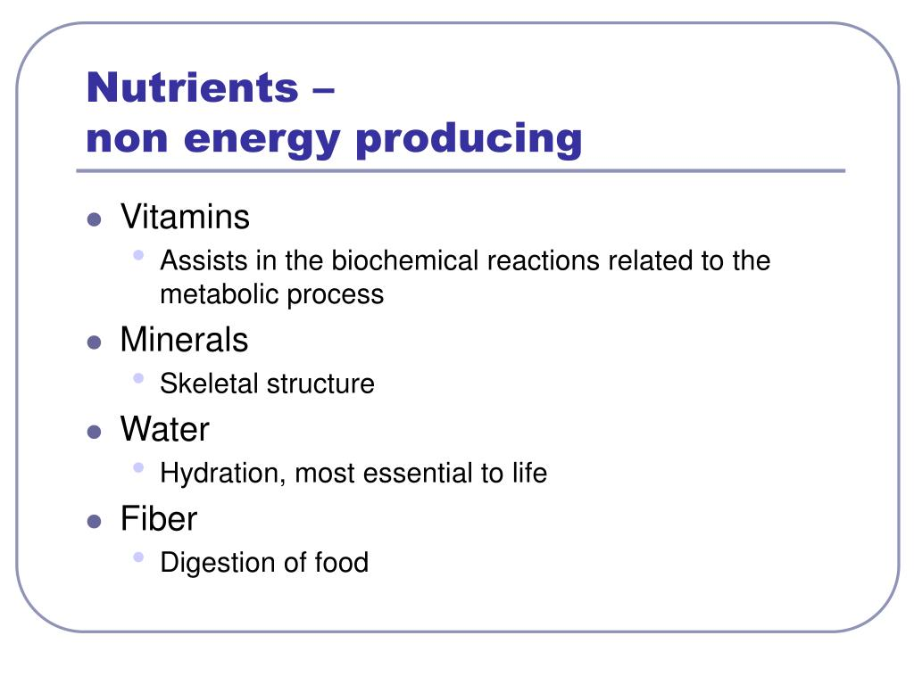 Nutrients –