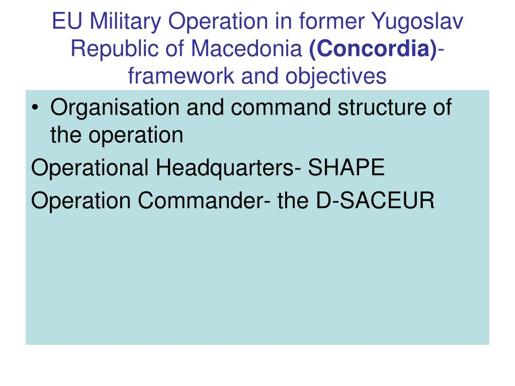 EU Military Operation in former Yugoslav Republic of Macedonia