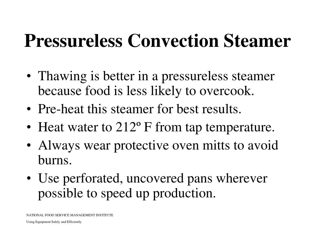 Pressureless Convection Steamer