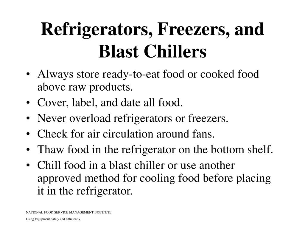 Refrigerators, Freezers, and